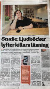 jongeren lezen luisterboeken- artikel nav onderzoek Zweden